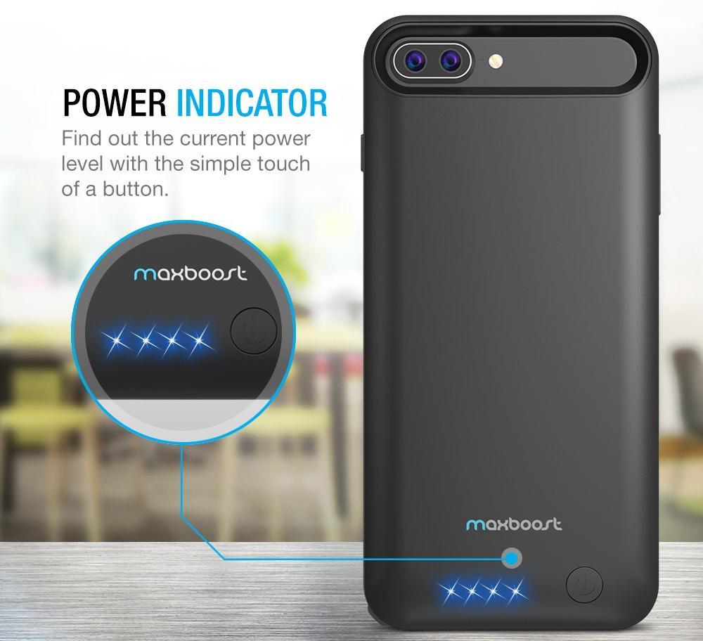 Чехол-аккумулятор Maxboost Battery Case 4000mAh (B073LQQJTT) для iPhone 7 Plus/8 Plus (Black)