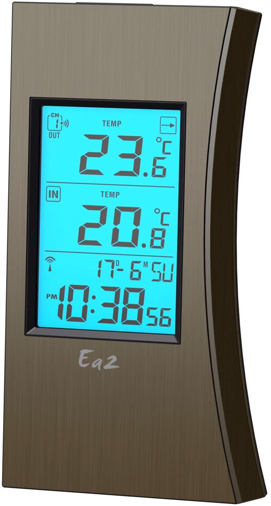 Ea2 ED601 - термометр с часами (Brown)