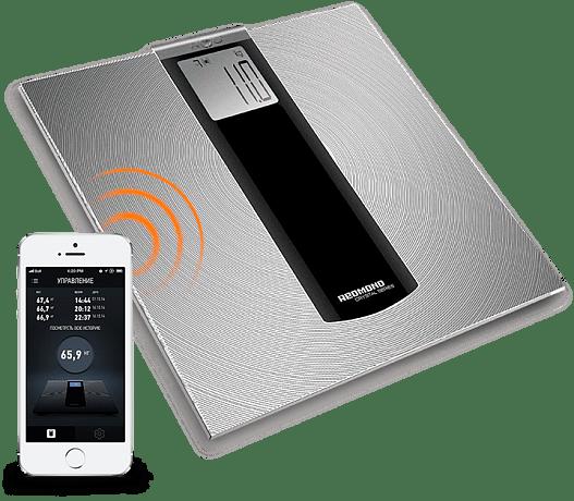 Redmond SkyBalance 740S - напольные весы с управлением с телефона