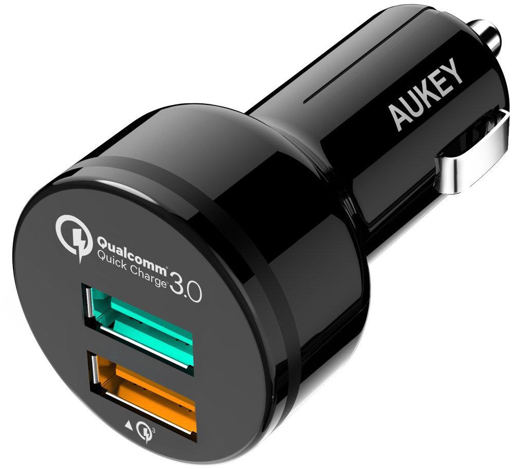 Aukey CC-T7 - автомобильное зарядное устройство (Black)