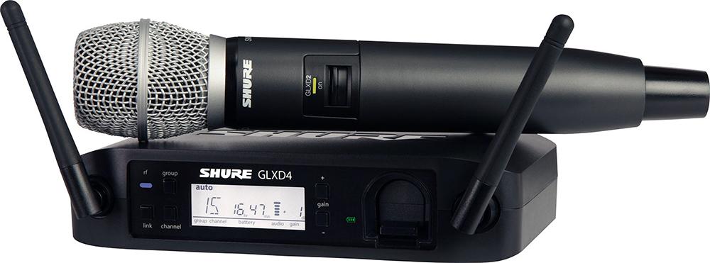 Shure GLXD24E/SM86 Z2 - вокальная радиосистема с ручным передатчиком (Black) A045812