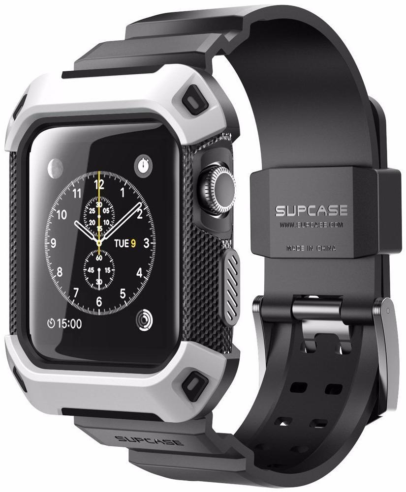 Supcase Protective Case - чехол-ремешок для Apple Watch 42mm (White)