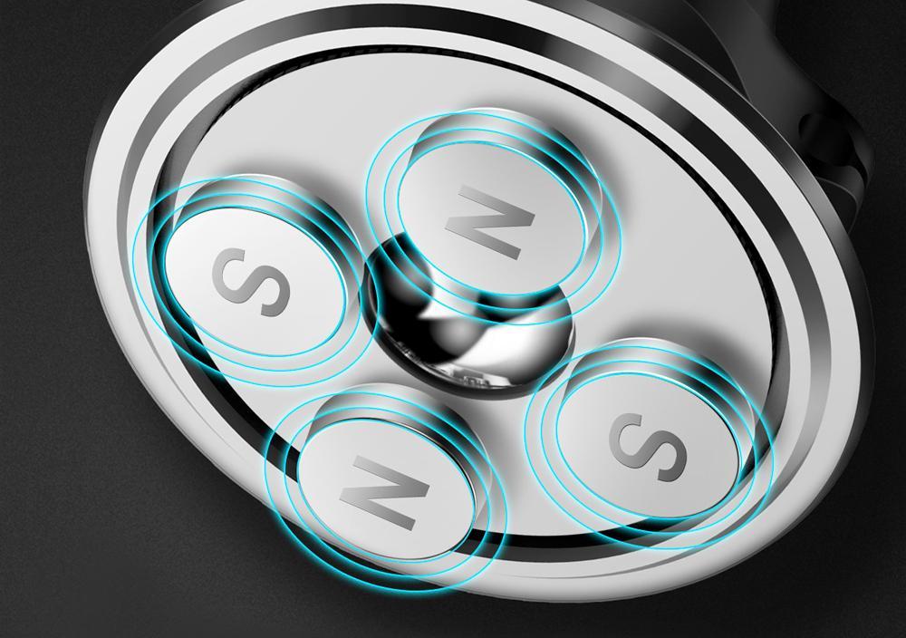 Автомобильный держатель Baseus Magnetic Air Vent Car Mount Holder (SUGX-A01) для смартфонов (Black)