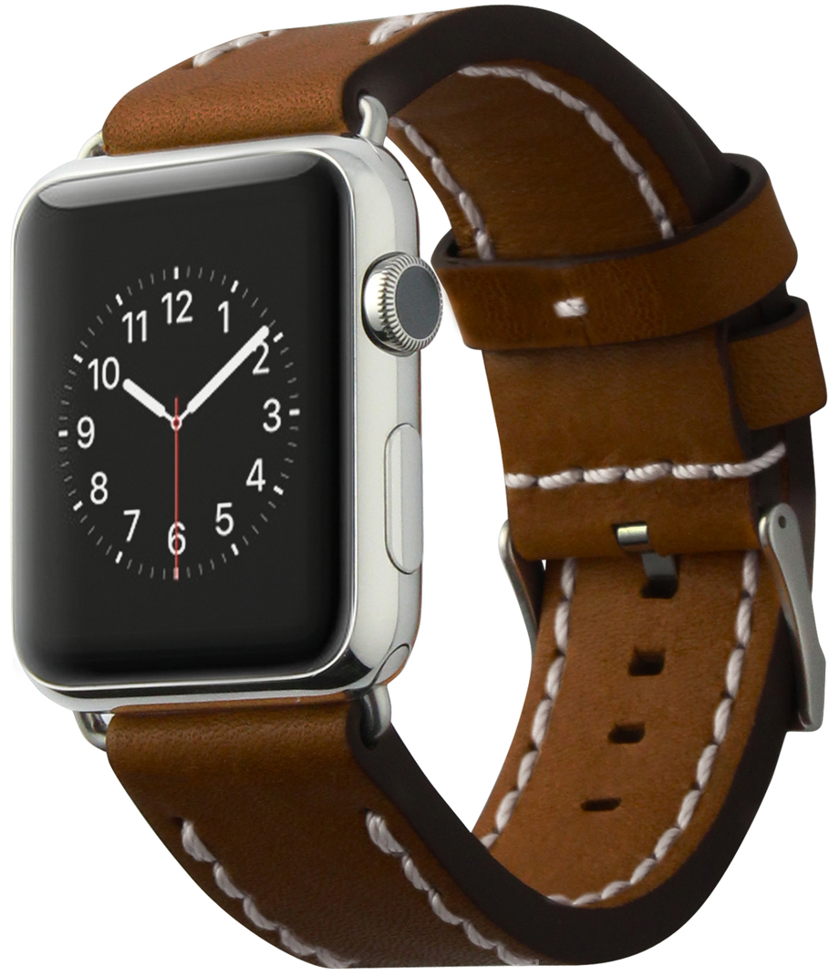 Cozistyle Leather Band (CLB012) - сменный ремешок для Apple Watch 42mm (Brown)