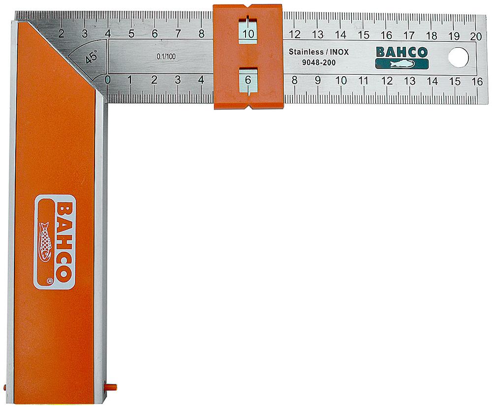Bahco 9048-200 - угольник 20 см (Orange/Metallic)