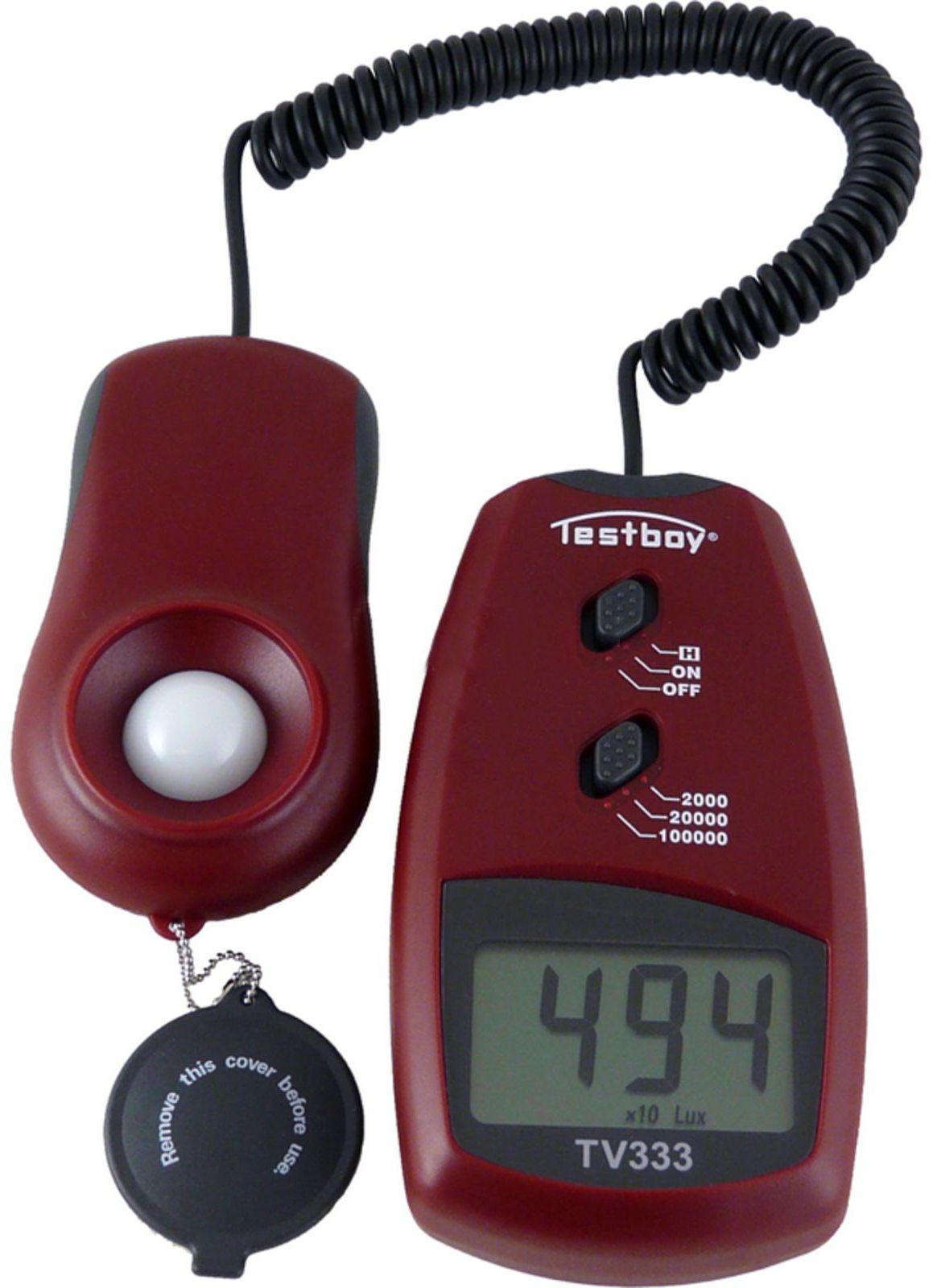 Testboy TV 333 - цифровой измеритель освещенности (Red) TESTBOYTV333