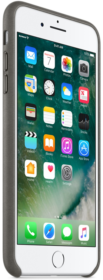 Apple Leather Case iPhone 7 Plus/8 Plus Storm Gray