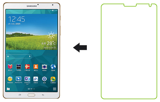 Ainy AA-S724 - защитная пленка для Samsung Galaxy Tab S 8.4 (матовая)