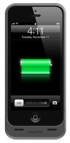 Купить Mophie Juice Pack Helium (JPH-IS5-MBLK) 1500mAh – чехол-аккумулятор для iPhone 5/5S/SE (Metallic Black)