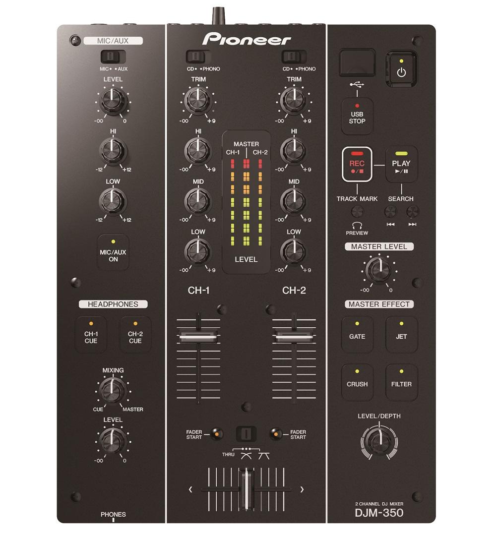 Pioneer DJM-350 - DJ-микшер (Black)DJ станции и контроллеры<br>DJ-микшер<br>