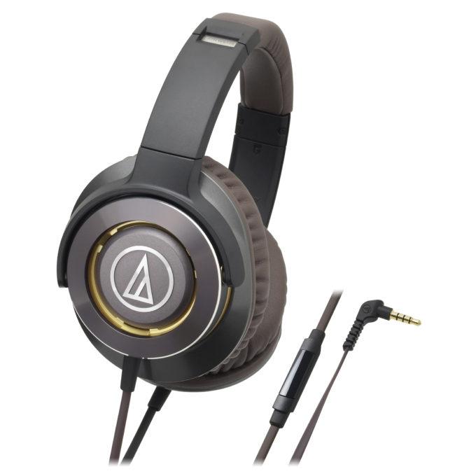 Audio-Technica ATH-WS770iS - мониторные наушники с микрофоном (Gun Metal) наушники audio technica ath ad700x