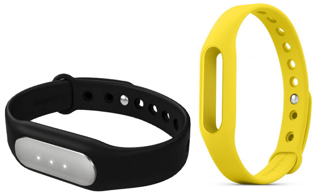 Купить Xiaomi Mi Band фитнес-браслет + сменный ремешок (Black/Yellow)