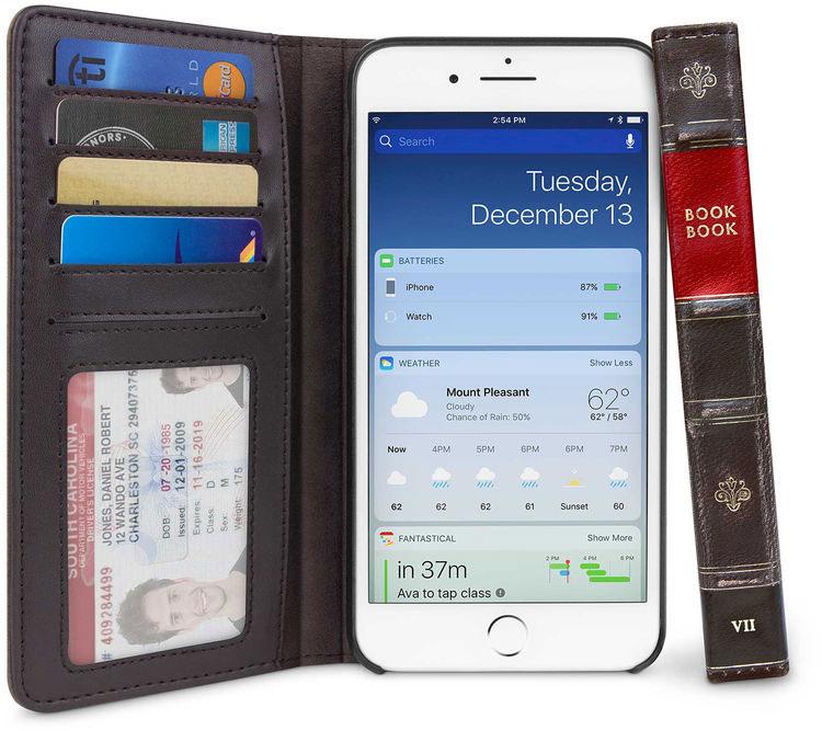 Чехол-книга в твердом переплете Twelve South BookBook (12-1661) для iPhone 8/7/6s/6 Plus (Black)
