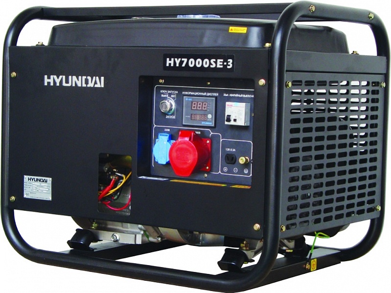 Hyundai HY 7000SE-3 - бензиновый генератор (Black)