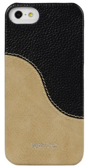 Vetti Craft Prestige LeatherSnap (IPO5LESBKLCBIVT) - чехол для iPhone 5 (Black & Vintage Khaki)