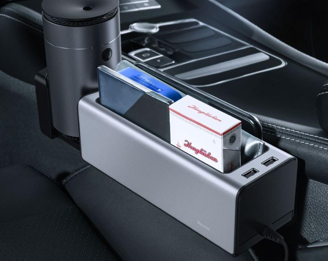 BASEUS Deluxe Metal Armrest Console Organizer 6
