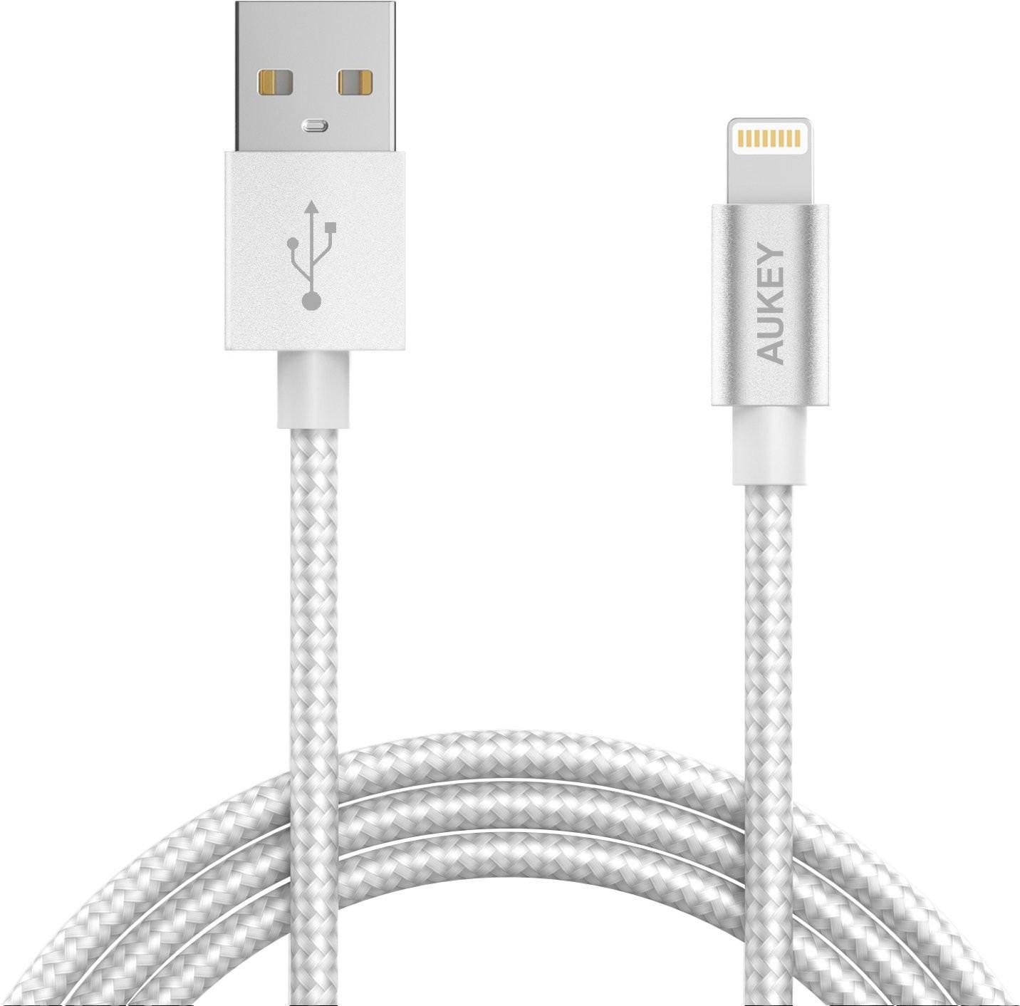 Aukey CB-D16 - кабель-переходник Lightning to USB-A (Grey)