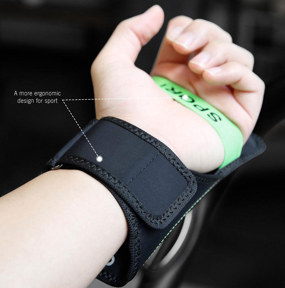 "Чехол спортивный Baseus Flexible Wristband (CWYD-A06) для смартфонов 5"" (Black/Green)"