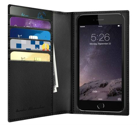 Чехол Boostcase Carte Blanche Billfold for iPhone 6 Plus - Black