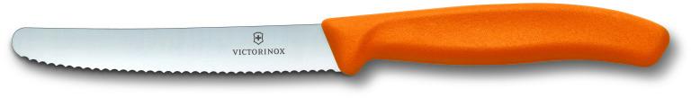 все цены на  Victorinox 11 см (6.7836.L119) - нож для томатов и сосисок (Orange)  онлайн