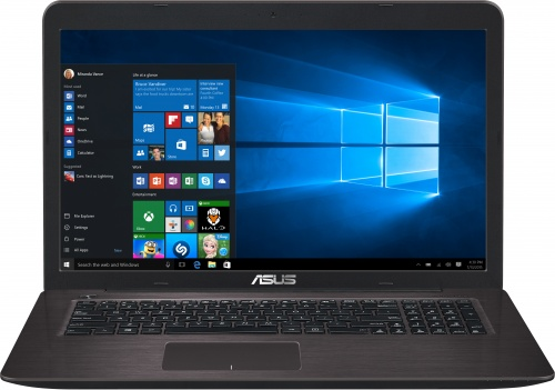"Ноутбук Asus X756UV 17.3"" Intel Core i3 6100U 2.3Ghz, 4Gb, 500Gb HDD (90NB0C71-M00810)"