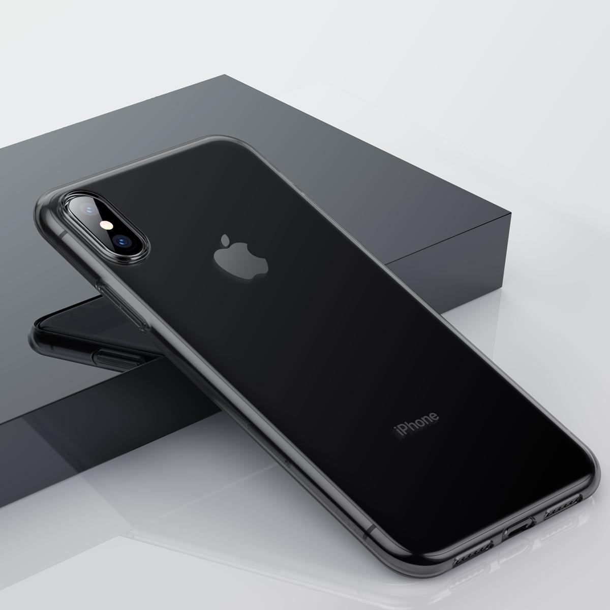 Интернет- магазин LiRider.ru - Силиконовый чехол Baseus Simplicity Series  для Apple iPhone X/XS (ARAPIPH58-B01)