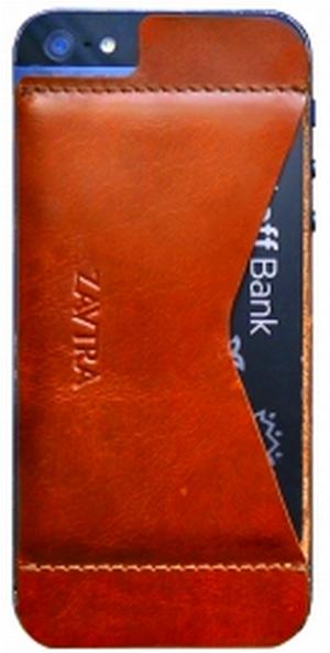 Кошелек-накладка Zavtra для iPhone 5/5S (Orange)