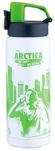 Арктика 0,5 л (702-500) - термос - сититерм (Белый/Зеленый)