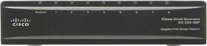 Cisco SG 200-08 8-port Gigabit PoE Smart Switch - управляемый коммутатор