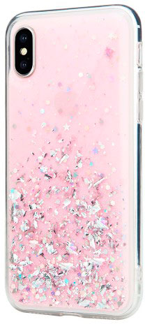 Чехол SwitchEasy Starfield для iPhone XS (Pink)