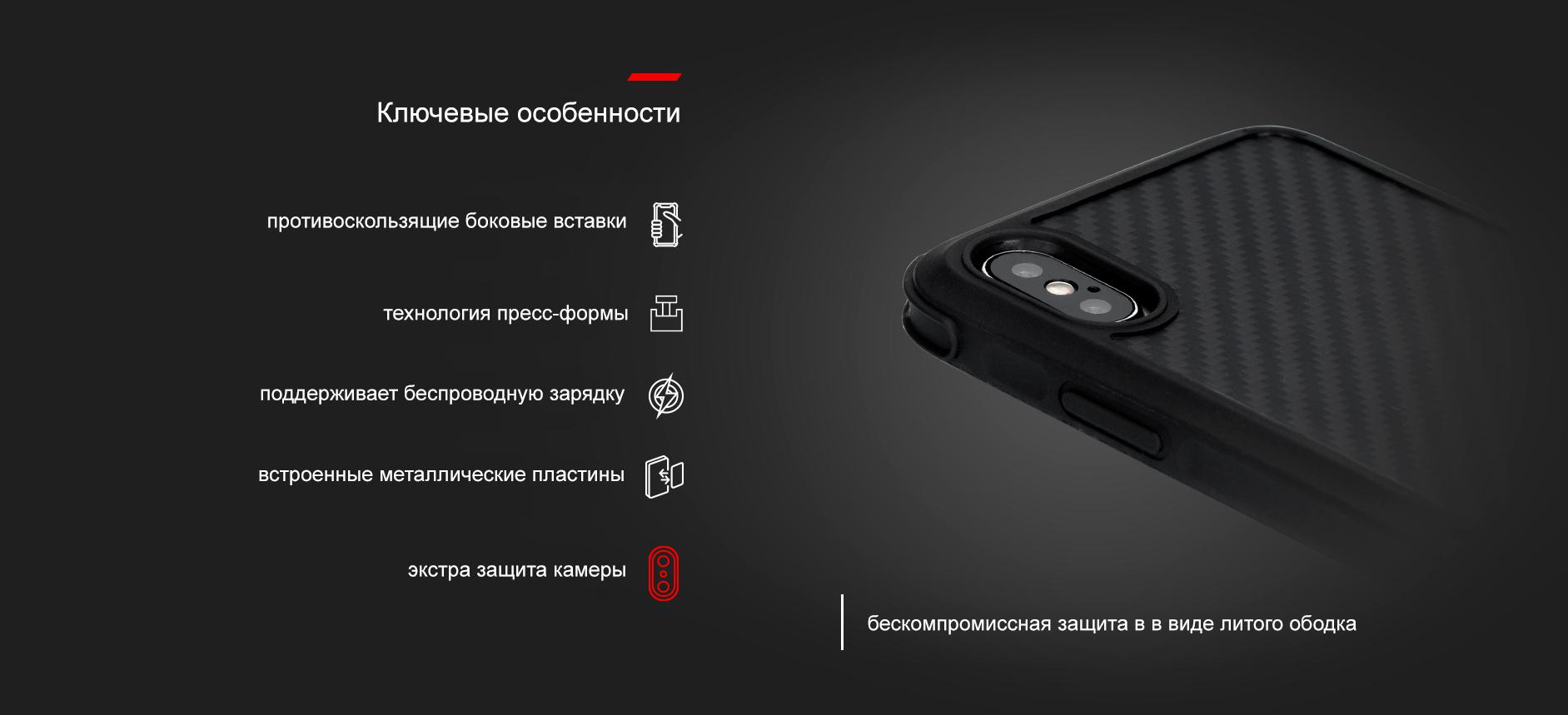 Комплект в авто для iPhone Xs Max Pitaka MagMount Qi Pro Vent CM002Q + MagCase KI9001XMP (Black)