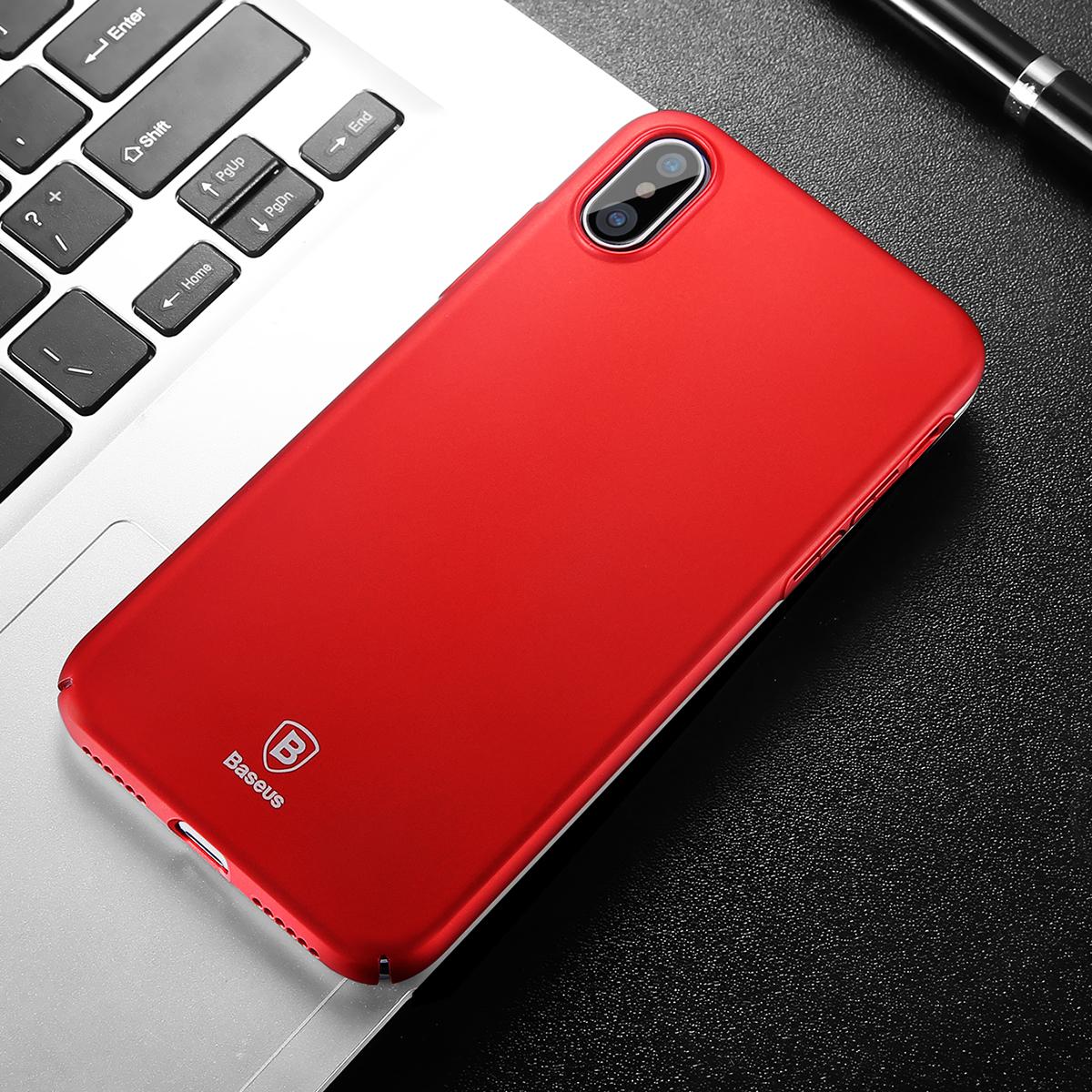 Чехол-накладка Baseus Thin Case (WIAPIPHX-ZB09) для Apple iPhone X (Red)