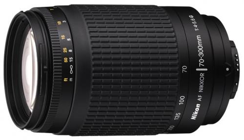 Nikon 70-300mm f/4-5.6G Zoom-Nikkor - объектив (Black)
