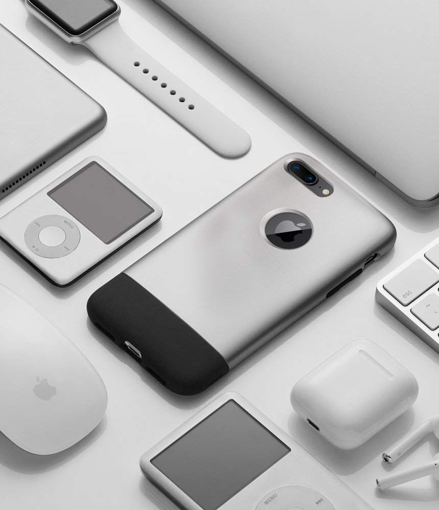 Чехол Spigen Classic One (055CS24412) для iPhone 8/7 Plus (Aluminum Grey)