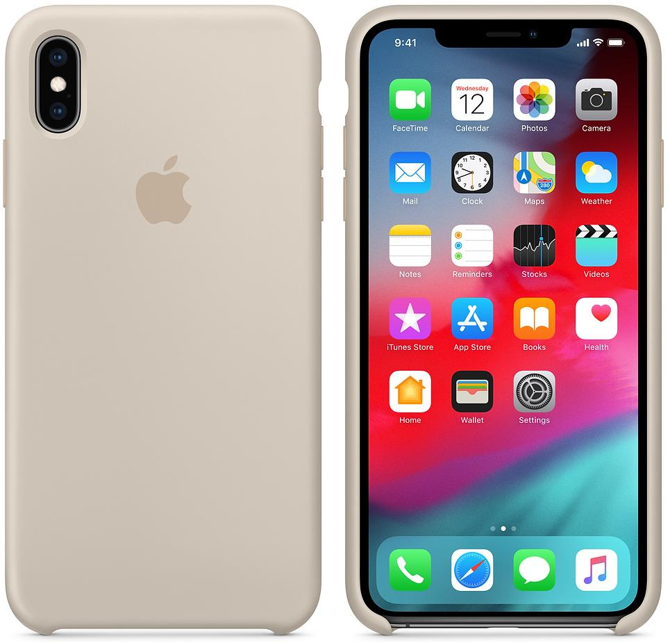 Чехол Apple Silicone (MRWJ2ZM/A) для iPhone Xs Max (Stone)