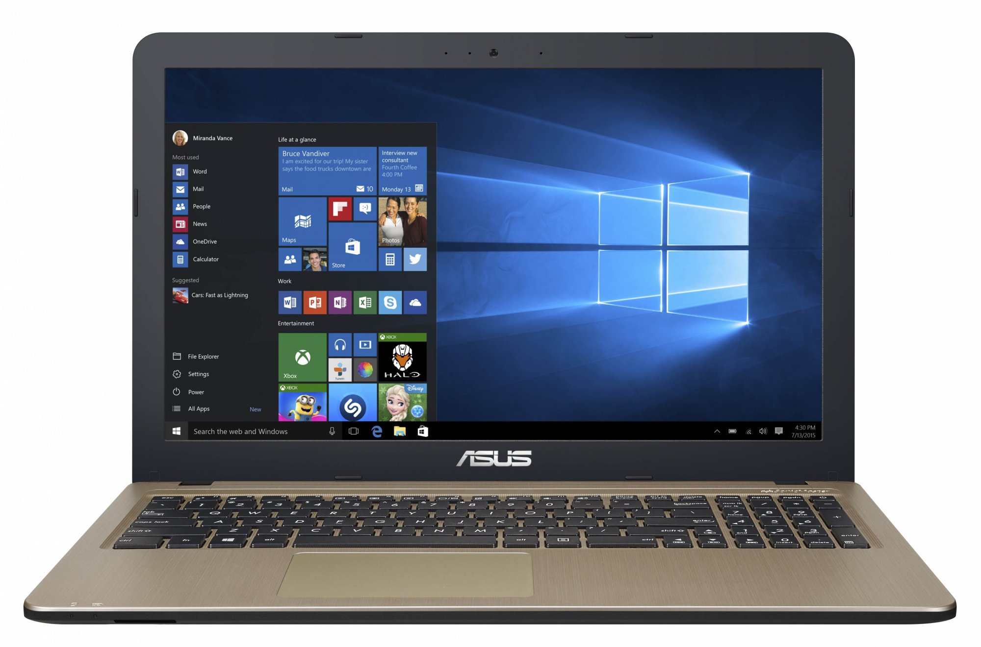 "Ноутбук Asus X540SC 15.6"" Intel Pentium N3700 1.6Ghz, 2Gb, 500Gb HDD, Win10 (90NB0B21-M01290), Black"