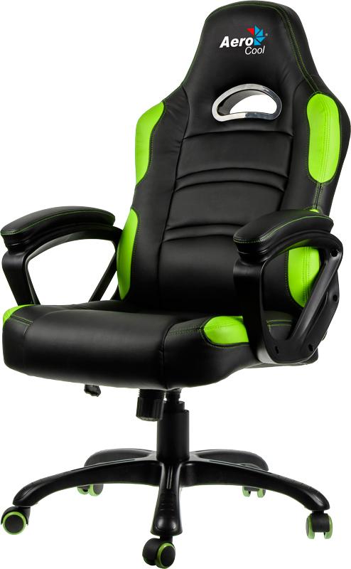 Кресло игровое Aerocool AC80С (Black/Green)