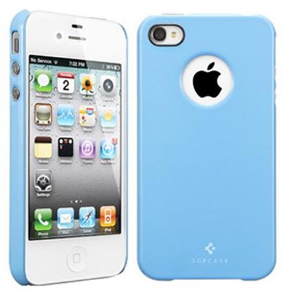 SGP Ultra Thin Air Pastel Case (SGP08383) – чехол для iPhone 4/4S (Tender Blue)