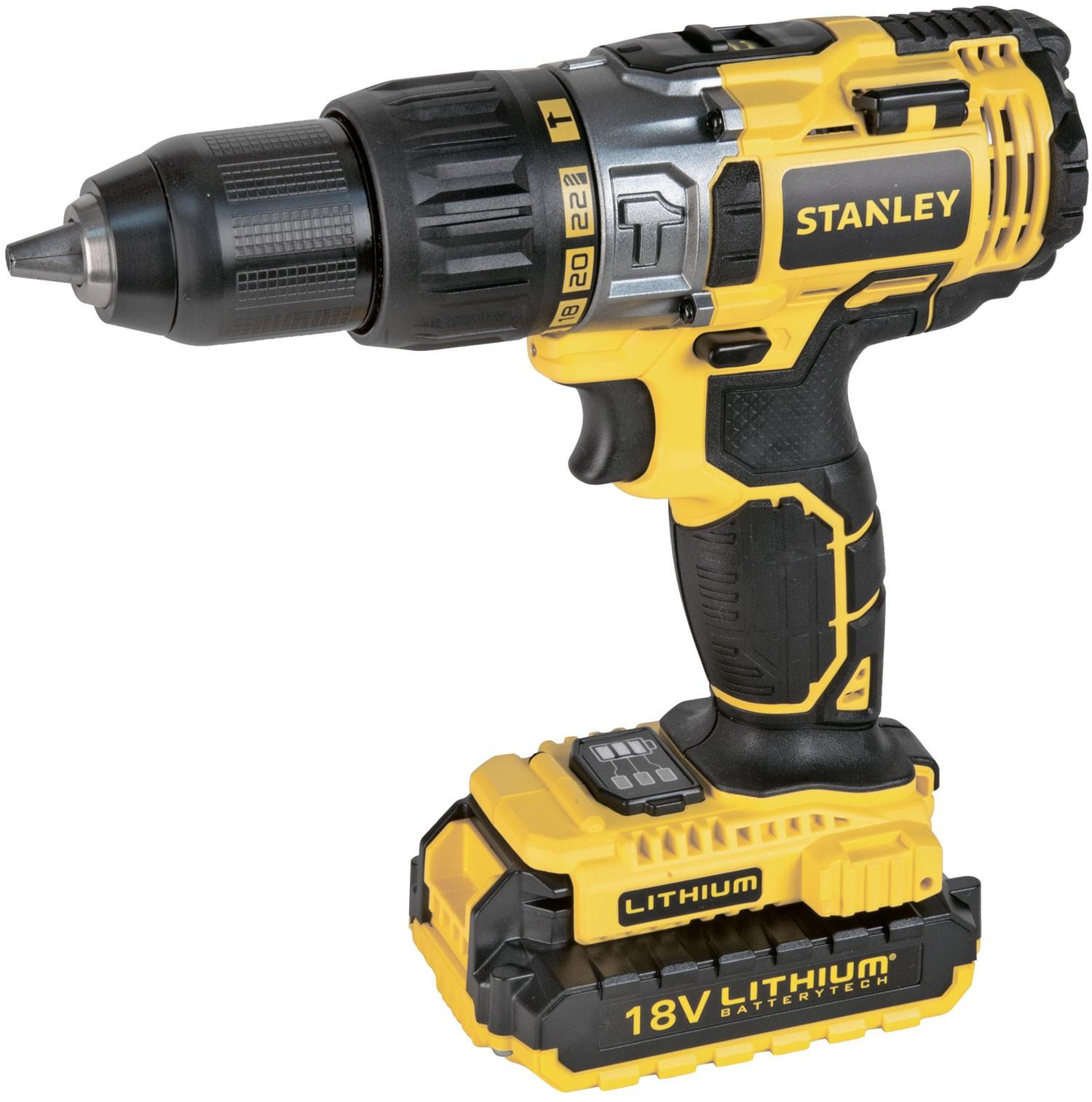 Stanley STDC18LHBK-RU - дрель-шуруповерт (Yellow)