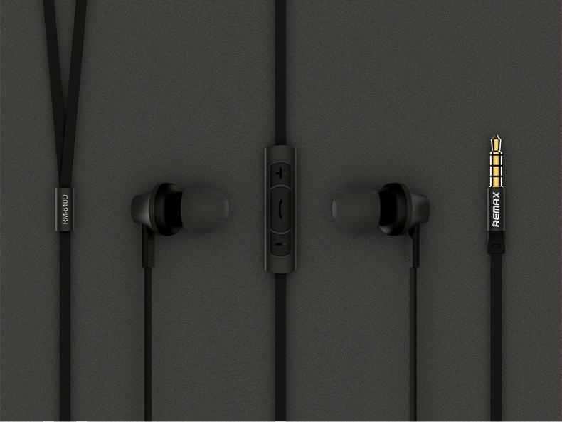 Remax RM-610D - наушники с гарнитурой (Black)