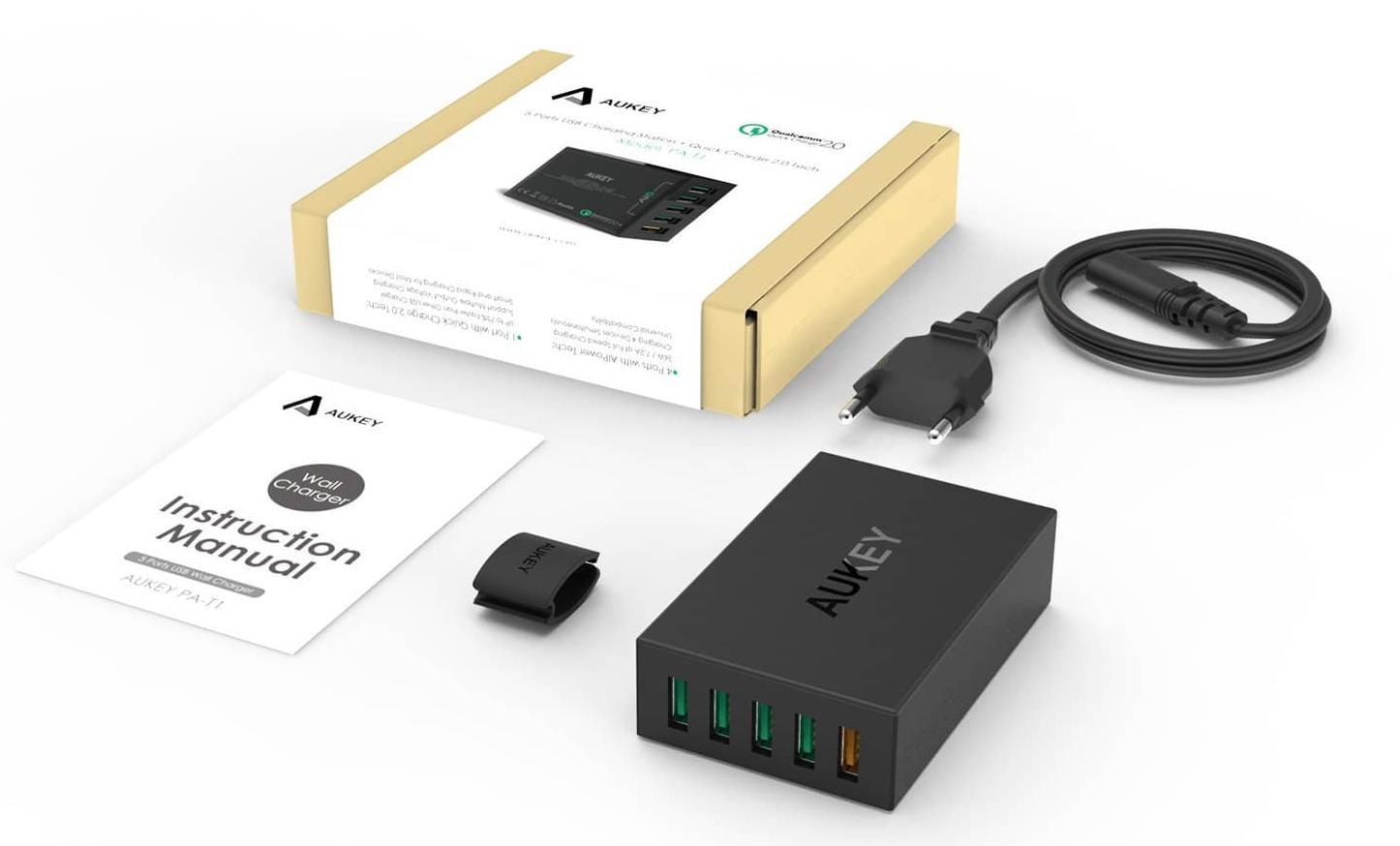 Сетевое зарядное устройство Aukey PA-T15 (Black)