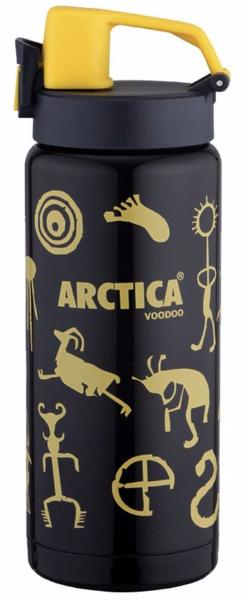 Арктика 0,5 л (702-500W) - термос - сититерм (Черный/Желтый)
