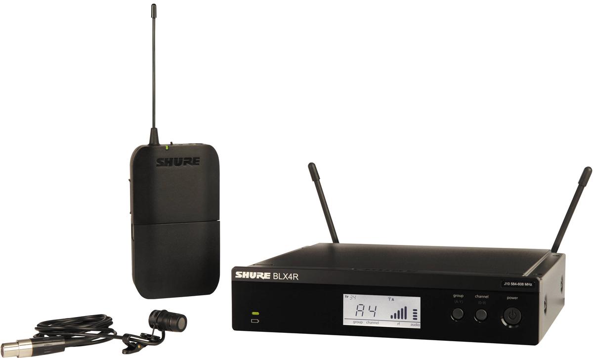 Shure BLX14RE/W85 K3E - головная радиосистема с петличным микрофоном WL185 (Black)