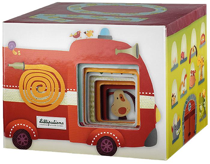 Lilliputiens Набор кубиков-пирамидок Собачка Джеф (86429)Развивающие игрушки<br>Набор кубиков-пирамидок<br>