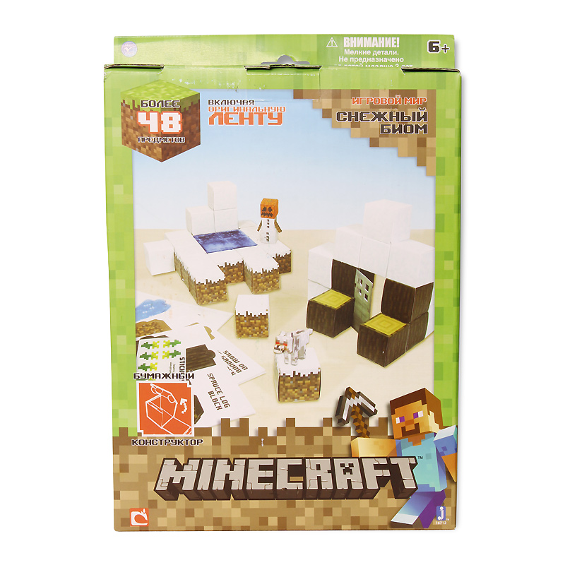 Minecraft minecraft игровой конструктор из бумаги снежный биом 48 деталей