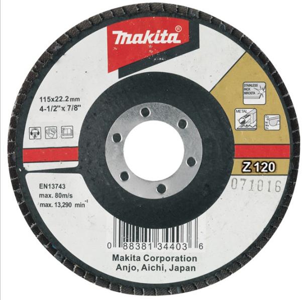 Подробнее о Makita Z120 (D-27713) - диск шлифовальный лепестковый диск шлифовальный лепестковый