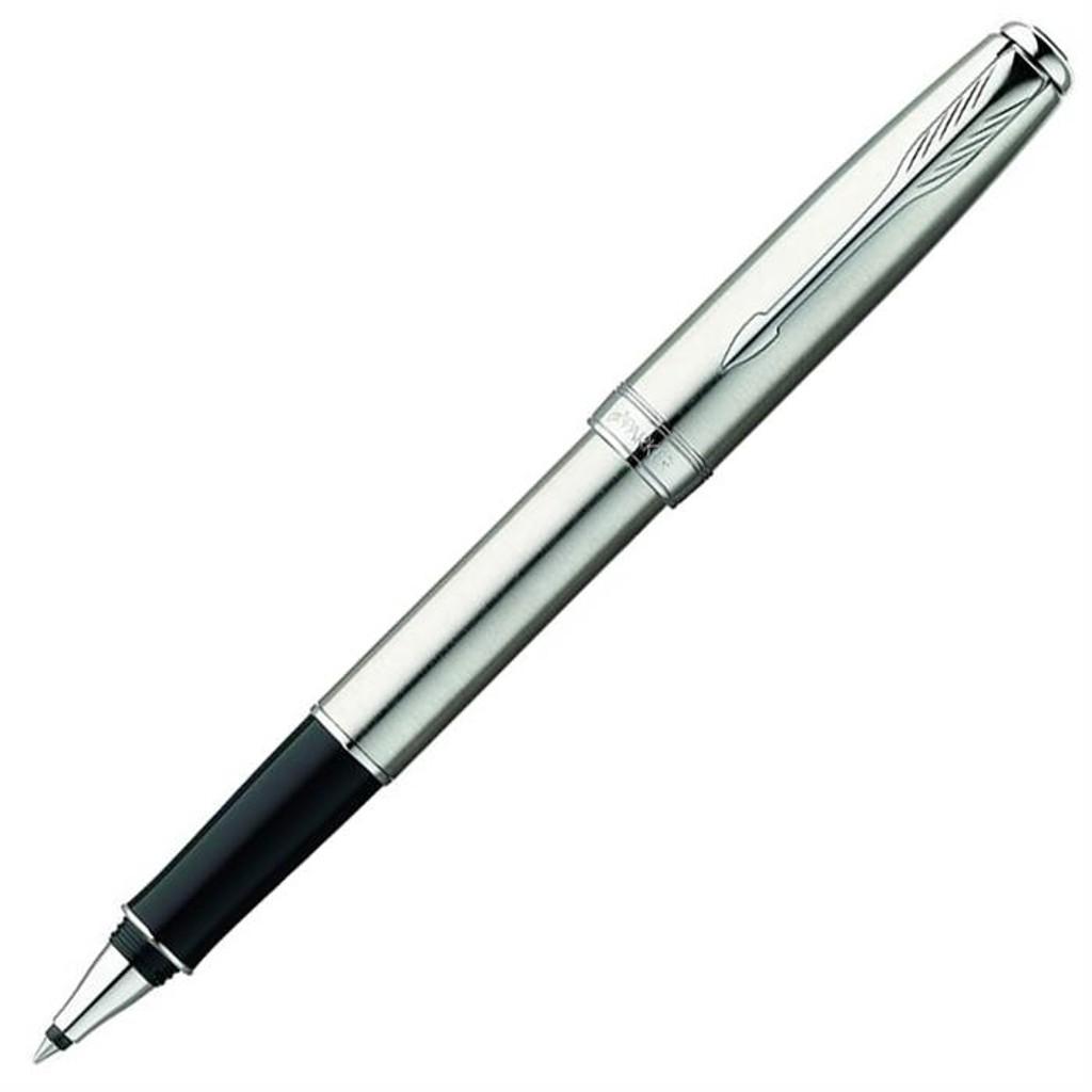 Купить Parker Sonnet Essential - ручка-роллер с черными чернилами (Stainless Steel CT)