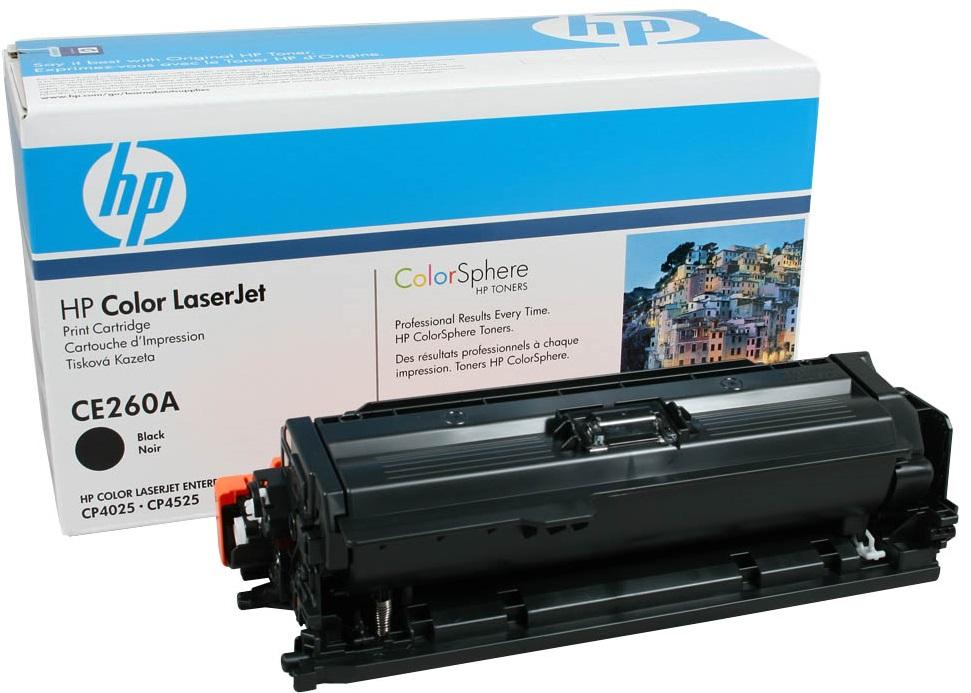 HP CE260A - картридж для принтеров HP Color LaserJet CP4025/CP4525 (Black)