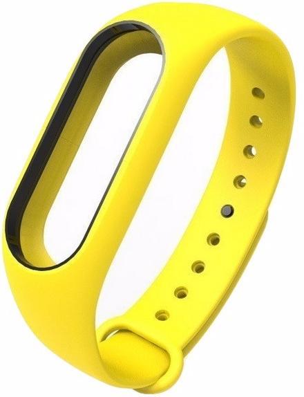 Сменный силиконовый ремешок для Xiaomi Mi Band 2 (Yellow)