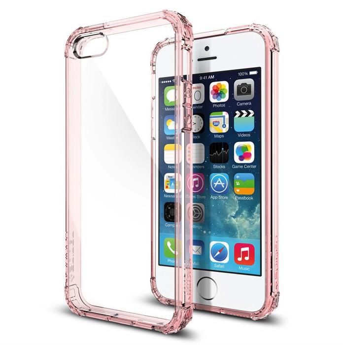 Spigen Crystal Shell (041CS20178)  - чехол для iPhone 5/5S/SE (Rose Crystal)